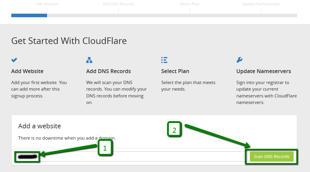 Setting up DNS records for your domain in CloudFlare